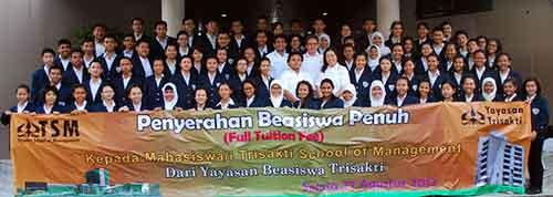 Pendaftaran Mahasiswa Beasiswa Penuh - Trisakti School Of Management (TSM)
